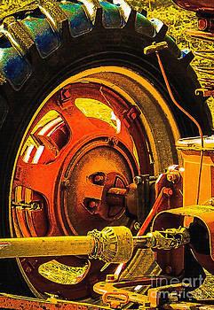 Vintage Tractor Wheel by Barbara Milton