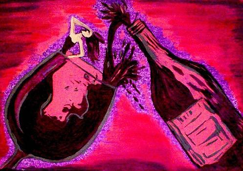 Vintage Wine by Lynette  Swart