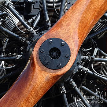 Wingsdomain Art and Photography - Vintage Wood Propeller - 7D15828 - Square