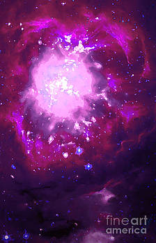 Violet and Burgundy Nebula by Andrew Madden
