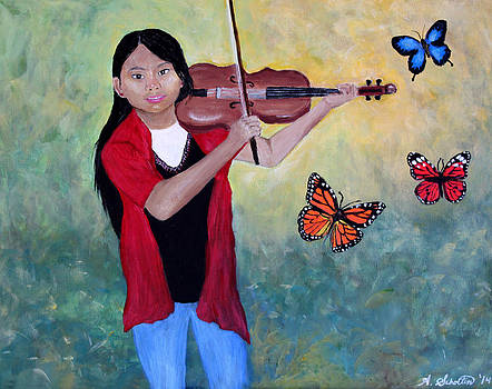 Violin Girl by Amy Scholten