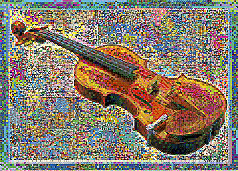 Violin in Colours Explosion by Celso Maria