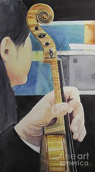 Violin Waiting by Carol Flagg