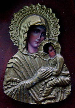 Virgin Mary Icon by Fethi Canbaz