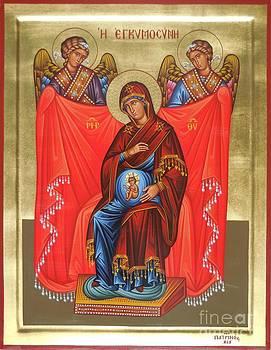 Virgin Mary in pregnancy by Theodoros Patrinos