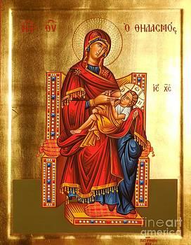 Virgin Mary suckling by Theodoros Patrinos