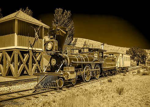 LeeAnn McLaneGoetz McLaneGoetzStudioLLCcom - Virginia and Truckee Gold Rush Train 22 BW