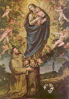 Vision Of St. Francis Of Assisi by Vicente Carducho