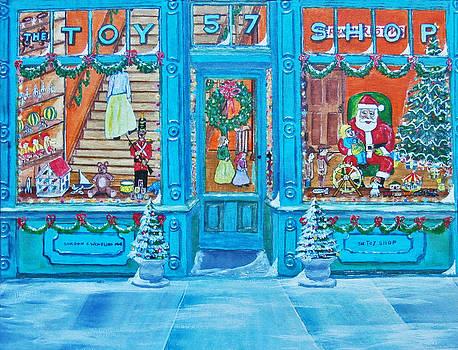Visit To The Toy Shop Santa by Gordon Wendling