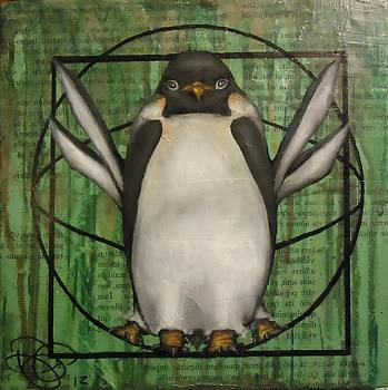 Vitruvian Penguin Subjectivity of Ideal Proportions by Dustin Parr