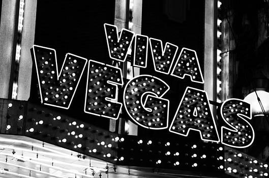 Viva Vegas B and W by William Shevchuk