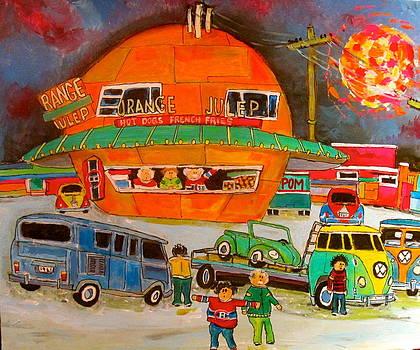 Volkswagen Orange Julep 1960 by Michael Litvack