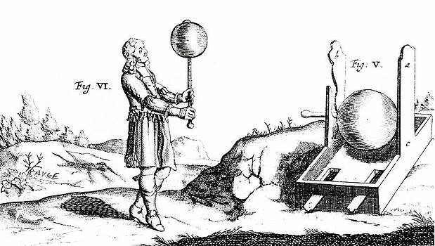 Von Guericke's Electric Machine by Universal History Archive/uig