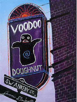 Voodoo Doughnuts Sign 2 by Portland Art Creations