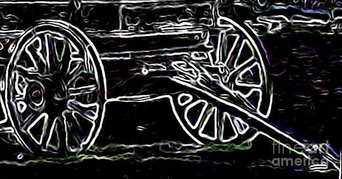 Gail Matthews - Wagon and Wagonwheel Silhouette