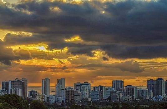 Waikiki Sunset 1 by Leigh Anne Meeks