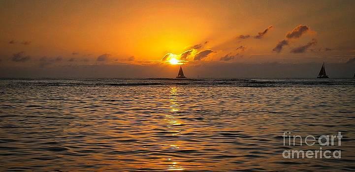 Waikiki Sunset by John Perez