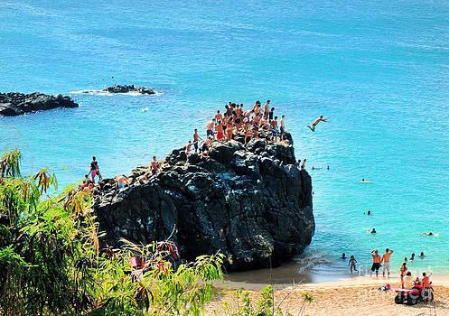 Waimea Bay Cliff Jump by Kristine Merc