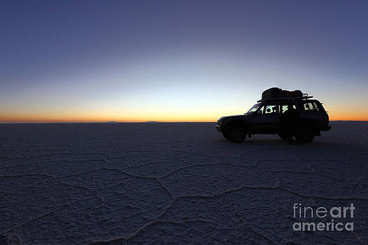 James Brunker - Waiting for Sunrise on the Salar de Uyuni