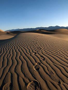 Walk This Way. No. This Way.  Mesquite Dunes, Death Valley California.  by Joe Schofield