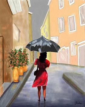 Walking in the Rain by Zelma Hensel