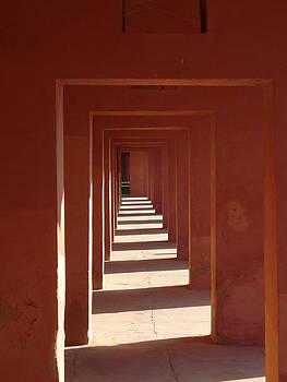 Walkway by the Taj by Bill Mock