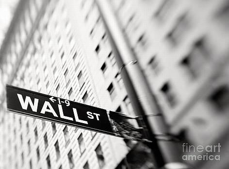 Wall Street Street Sign by Tony Cordoza