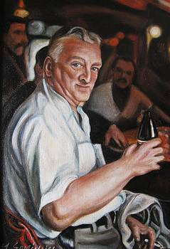 Walter at Eddies Bar by Melinda Saminski