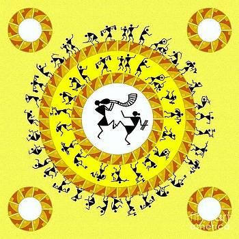 Warli Dance by Subhash Limaye