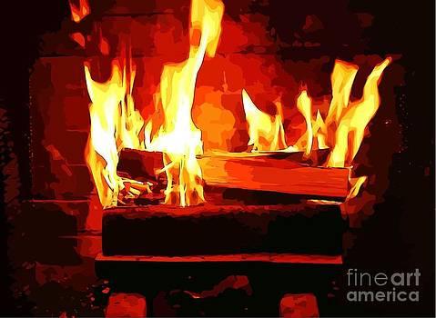 Warm Dancing Flames by Judy Palkimas