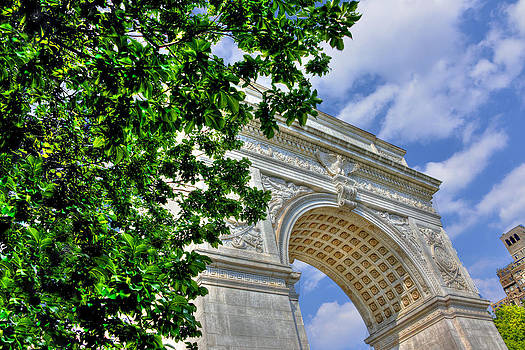 Washington Square Arch Profile View by Randy Aveille