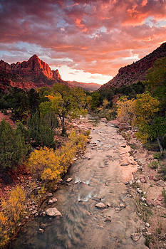 Watchman Sunset by David  Forster