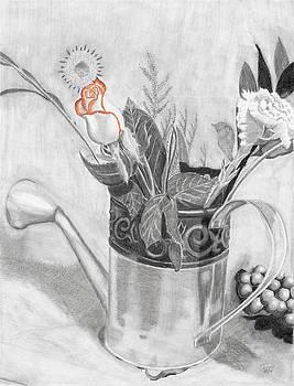 Water Can Bouquet by Susan Schmitz
