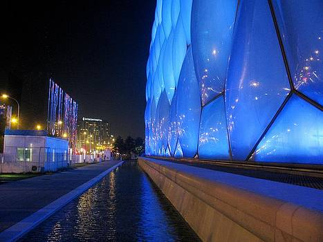 Alfred Ng - water cube at night