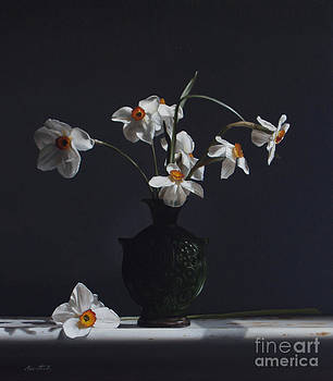 Larry Preston - WATER JUG WITH NARCISSUS