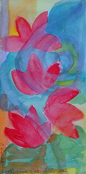 Water Lilies Water Swirls version II by Claudia Smaletz