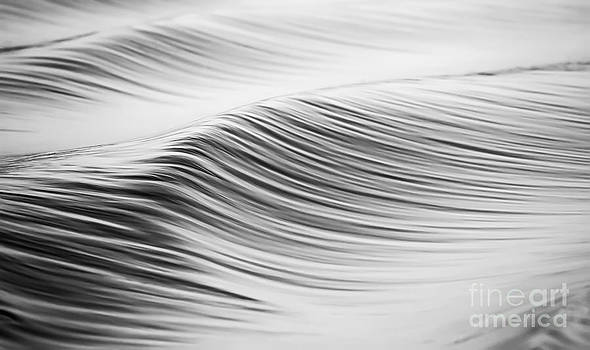 Water Waves Abstract Black and White by Dustin K Ryan