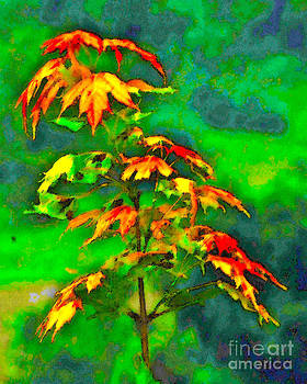 Watercolor Branch Fall by Fred L Gardner