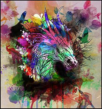 Watercolor Dragon by Aya Murrells