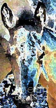 Watercolor Filly  by Juls Adams