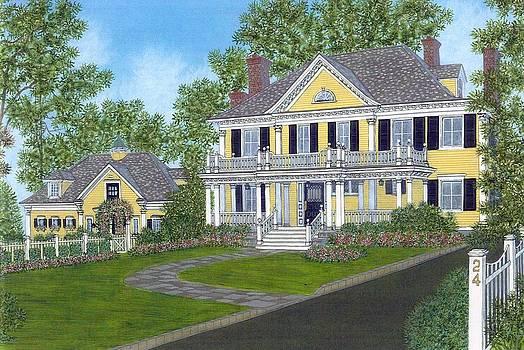 Watercolor Home Portrait by David Hinchen