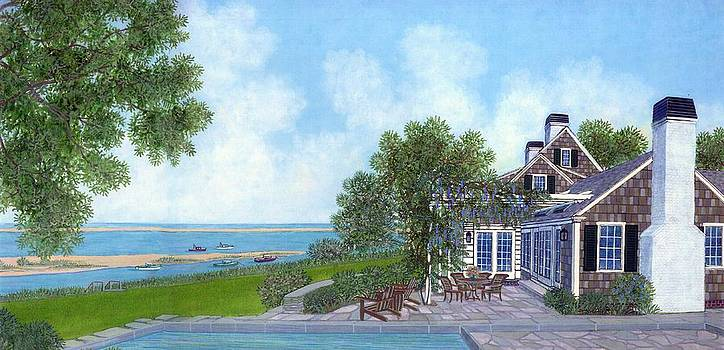 Watercolor House Portrait by David Hinchen
