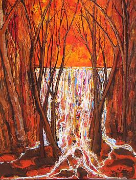 Kathy Peltomaa Lewis - Waterfall At Dawn