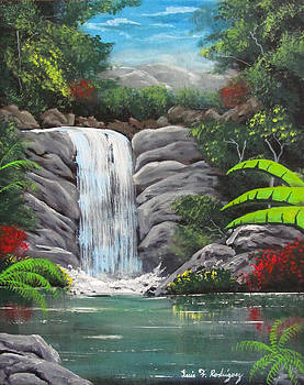 Waterfall Fantasy by Luis F Rodriguez