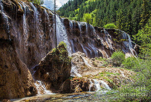 Fototrav Print - Waterfall in Jiuzhaigou China