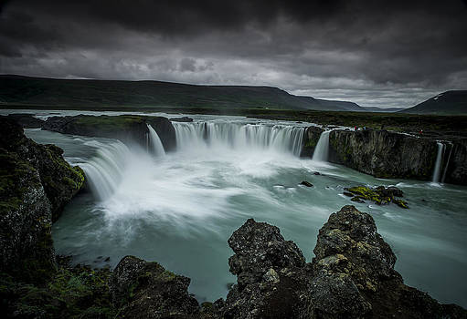 Waterfall of the gods by Petur Mar Gunnarsson