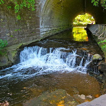 Waterfall Under Bridge by Paul Schoenig