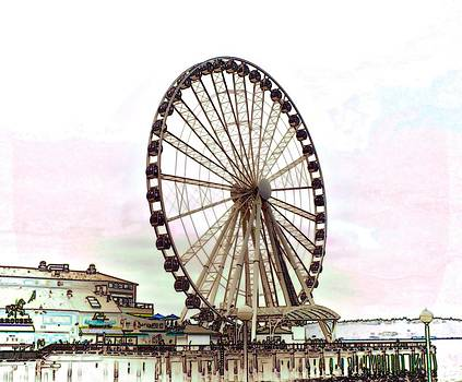 Waterfront Wheel by Frank Jackson