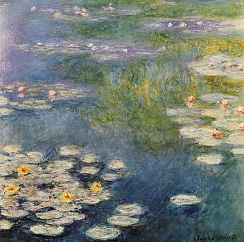 Waterlillies At Giverny 1908 by Claude Monet