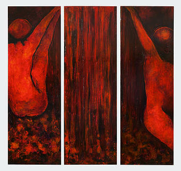 Waterplay Triptych by Holly  Suzanne